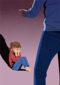 아동학대, 어두움, 슬픔, 우울, 어린이 (인간의나이), 그림자, 폭력, 소녀 (여성)