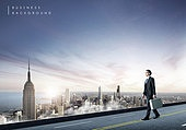그래픽이미지 (Computer Graphics), 비즈니스, 도시, 비즈니스맨, 남성, 글로벌, 하늘, 레이아웃