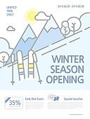연례행사 (사건), 상업이벤트 (사건), 포스터, 가을, 팝업, 이벤트페이지, 겨울, 시즌권, 스키 (겨울스포츠)