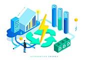 대체에너지, 연료와전력발전 (주제), 연구 (주제), 과학자 (전문직), 환경보호 (환경), 신기술, 4차산업혁명 (산업혁명), 재활용심볼 (심볼), 번개