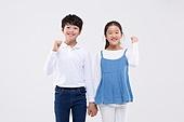 어린이 (인간의나이), 초등학생, 교육 (주제), 두명, 자신감 (컨셉), 화이팅