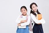초등학생, 어린이 (인간의나이), 누끼, 교육 (주제), 공부, 등하교 (움직이는활동), 여학생