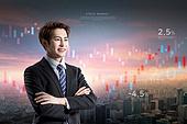 비즈니스, 하늘, 주권 (증명서), 주식시장자료 (금융기호), 그래프, 금융