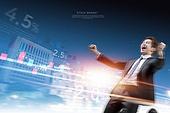 비즈니스, 하늘, 주권 (증명서), 주식시장자료 (금융기호), 그래프, 금융, 성공