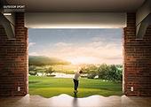 풍경 (컨셉), 아웃도어, 스포츠, 활력 (컨셉), 레저활동 (주제), 골프