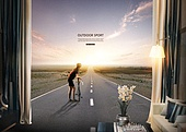 풍경 (컨셉), 아웃도어, 스포츠, 활력 (컨셉), 레저활동 (주제), 도로, 자전거