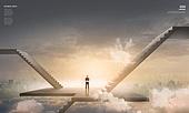 백그라운드, 풍경 (컨셉), 비즈니스맨, 비즈니스, 건설물 (인조공간)