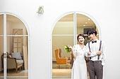 정원, 결혼, 신랑, 신부 (결혼식역할), 웨딩드레스, 부케