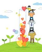 사회복지 (사회현상), 희망, 사람, 공동체, 공동체 (컨셉), 하트, 어린이 (인간의나이), 새싹