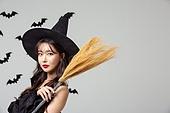 여성, 할로윈 (홀리데이), 마녀, 코스튬, 박쥐, 패턴, 마법사 (가상존재), 빗자루