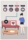 배달, 음식, 모바일앱 (인터넷), 어플리케이션 (컴퓨터소프트웨어), 혼밥, 혼밥 (컨셉), 소파, 오토바이 (자동차류)
