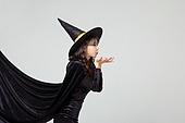 여성, 할로윈, 할로윈 (홀리데이), 코스튬, 마녀, 망토 (의복), 불기, 마술