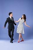 여성, 드레스 (의복), 레트로스타일, 패션, 정장, 춤 (물리적활동), 커플