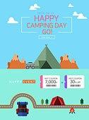 웹템플릿, 이벤트페이지, 쿠폰, 팝업, 여행, 캠핑, 글램핑, 상업이벤트 (사건), 휴가, 텐트