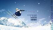 겨울, 스포츠, 운동, 레저활동 (주제), 휴가, 스키장, 스키 (겨울스포츠)