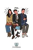 술 (음료), 라이프스타일, 화이트칼라 (전문직), 청년 (성인), 캘리그래피 (문자), 손글씨, 비즈니스우먼, 비즈니스맨, 술취함 (물체묘사), 지하철, 대중교통 (운수)