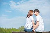 커플 (인간관계), 데이트, 감성, 이성커플 (커플), 한국인, 동양인 (인종), 로맨스 (컨셉), 이성커플, 로맨틱, 마주보기