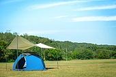 텐트, 캠핑 (아웃도어), 들판, 여유로운주말 (레저활동)