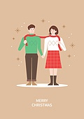 상업이벤트 (사건), 연례행사 (사건), 크리스마스, 겨울, 커플, 목도리