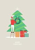 상업이벤트 (사건), 연례행사 (사건), 크리스마스, 겨울, 크리스마스트리 (크리스마스데코레이션), 리스, 선물 (인조물건)