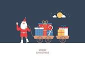 상업이벤트 (사건), 연례행사 (사건), 크리스마스, 겨울, 산타클로스 (가상존재), 선물 (인조물건), 보름달