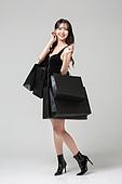 여성, 검정색 (색상), 쇼핑 (상업활동), 블랙프라이데이, 쇼핑백, 미소