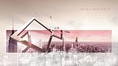 백그라운드, 도시풍경, 키포인트 (컨셉), 기하학모양 (도형), 비즈니스, 직사각형