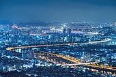 서울 (대한민국), 도시, 도심지 (구역), 부동산, 도시풍경 (풍경), 야경, 스모그 (대기오염)