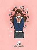 라이프스타일, 감기, 질병 (건강이상), 건강관리 (주제), 고통 (컨셉), 겨울, 여성 (성별), 재채기, 기침, 코감기 (감기)