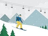 벡터파일 (일러스트), 계절, 겨울, 여행, 눈 (얼어있는물), 겨울 (계절), 스키 (겨울스포츠), 스키장