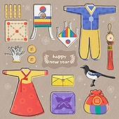 벡터파일 (일러스트), 겨울, 눈 (얼어있는물), 라벨 (메시지), 아이콘세트 (아이콘), 그림아이콘, 크리스마스, 옷 (인조물건), 한복