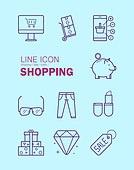 아이콘, 아이콘세트 (아이콘), 벡터파일 (일러스트), 라인아이콘, 컬러, 쇼핑 (상업활동), 장바구니, 모바일결제 (금융아이템), 신용카드결제 (신용카드), 배달 (일), 구매 (상업활동)