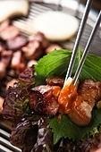 구이,돼지고기,쌈,야채