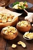 마늘,튀김