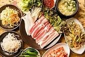 돼지고기,삼겹살,구이,생고기,쌈
