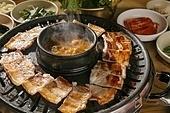 돼지고기, 삼겹살, 구이, 된장찌개