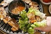 돼지고기,삼겹살,구이,쌈