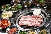 돼지고기,삼겹살,구이,생고기