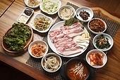 돼지고기,삼겹살,구이,생고기,정식