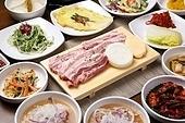 돼지고기, 삼겹살, 구이, 정식