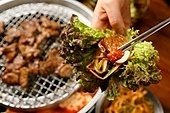 돼지갈비,고기,구이,쌈