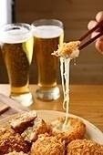 고로케,튀김,맥주