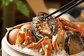 해산물,대게,찜,전복,새우