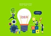 교육 (주제), 학생, 교과목, 미니어쳐, 아이디어, 교복, 태엽, 과학