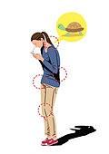 건강관리 (주제), 고통 (컨셉), 질병 (건강이상), 고통, 거북목증후군 (질병), 거북목증후군, 스마트폰, 여성 (성별)