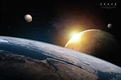 백그라운드, 행성, 하늘, 우주 (자연현상), 빛 (자연현상)