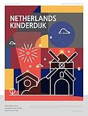 랜드마크 (묘사), 포스터, 여행, 세계여행, 패턴, 기하학모양 (도형), 네덜란드 (베네룩스), 풍차, 네덜란드문화 (유럽문화)