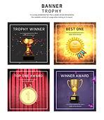 웹템플릿, 배너 (템플릿), 웹배너 (인터넷), 팝업, 상업이벤트 (사건), 트로피, 승리 (움직이는활동), 넘버원, 금메달 (메달)
