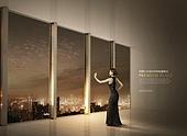 건설물, 아파트, 고층빌딩, 고급, 광고, 햇빛, 부동산