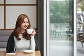 카페, 한국인, 커피 (뜨거운음료), 마시기, 차 (뜨거운음료), 커피숍